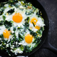 Sautéed Dandelion Greens with Eggs