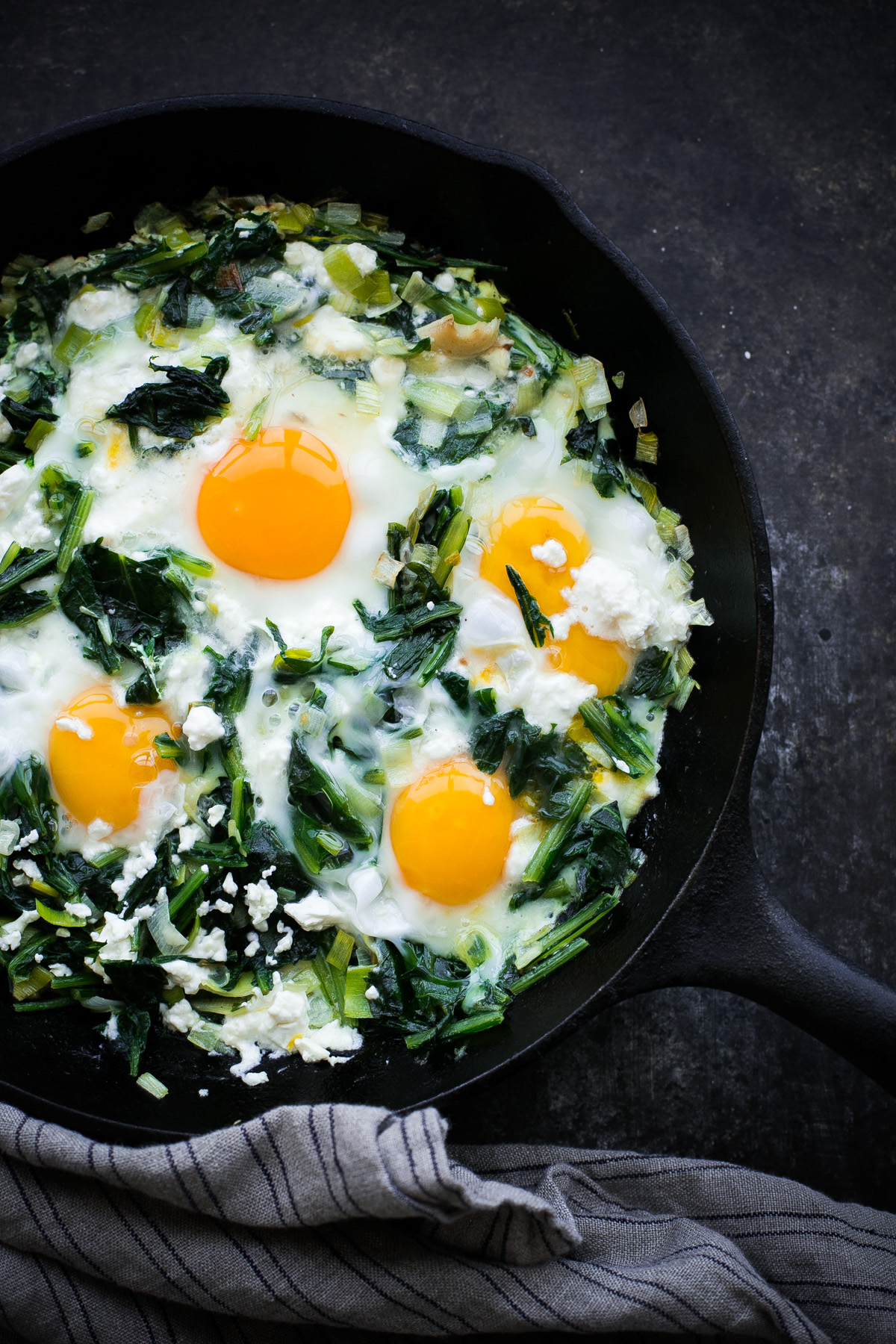 Saut 233 Ed Dandelion Greens With Eggs A Beautiful Plate