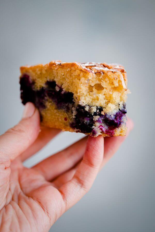 Blueberry Almond Tea Cake - A Beautiful Plate