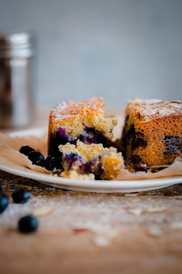 Blueberry Almond Tea Cake. A simple almond cake recipe studded with ...