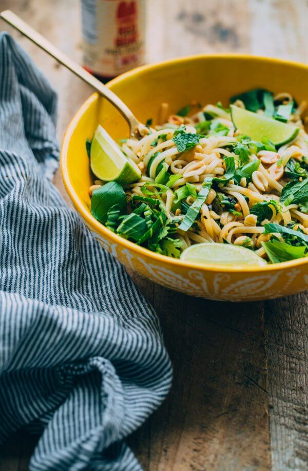 Thai Noodle Salad with Glazed Salmon. This flavor packed main course can be prepared in less than 45 minutes!
