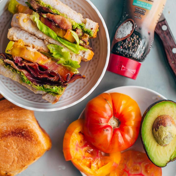 California BLT Sandwich with Hummus