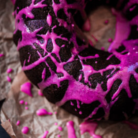 Chocolate Beet Bundt Cake with Beet Glaze