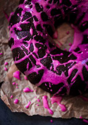Chocolate Beet Bundt Cake with Beet Glaze