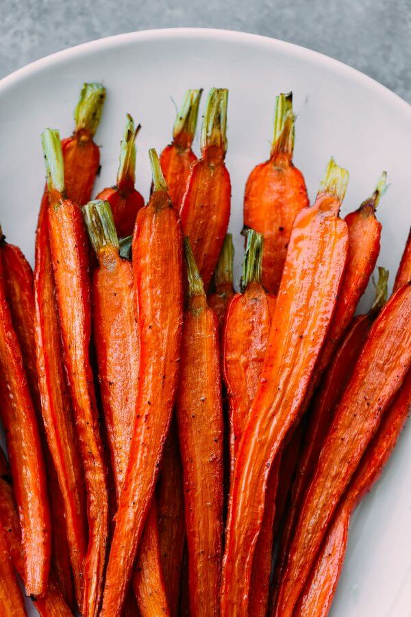 Roasted Halved Carrots