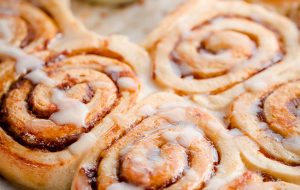 Pumpkin Butter Rolls with Creme Fraiche Frosting. Breakfast rolls filled with homemade pumpkin butter and topped with sweet and tart frosting!