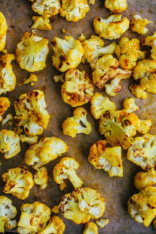 Turmeric Roasted Cauliflower Florets