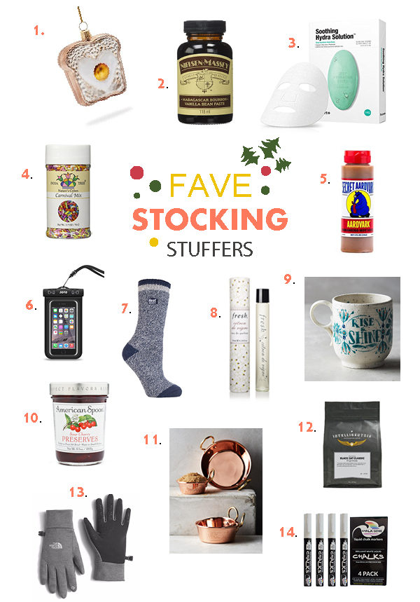 2016 Favorite Things Stocking Stuffers