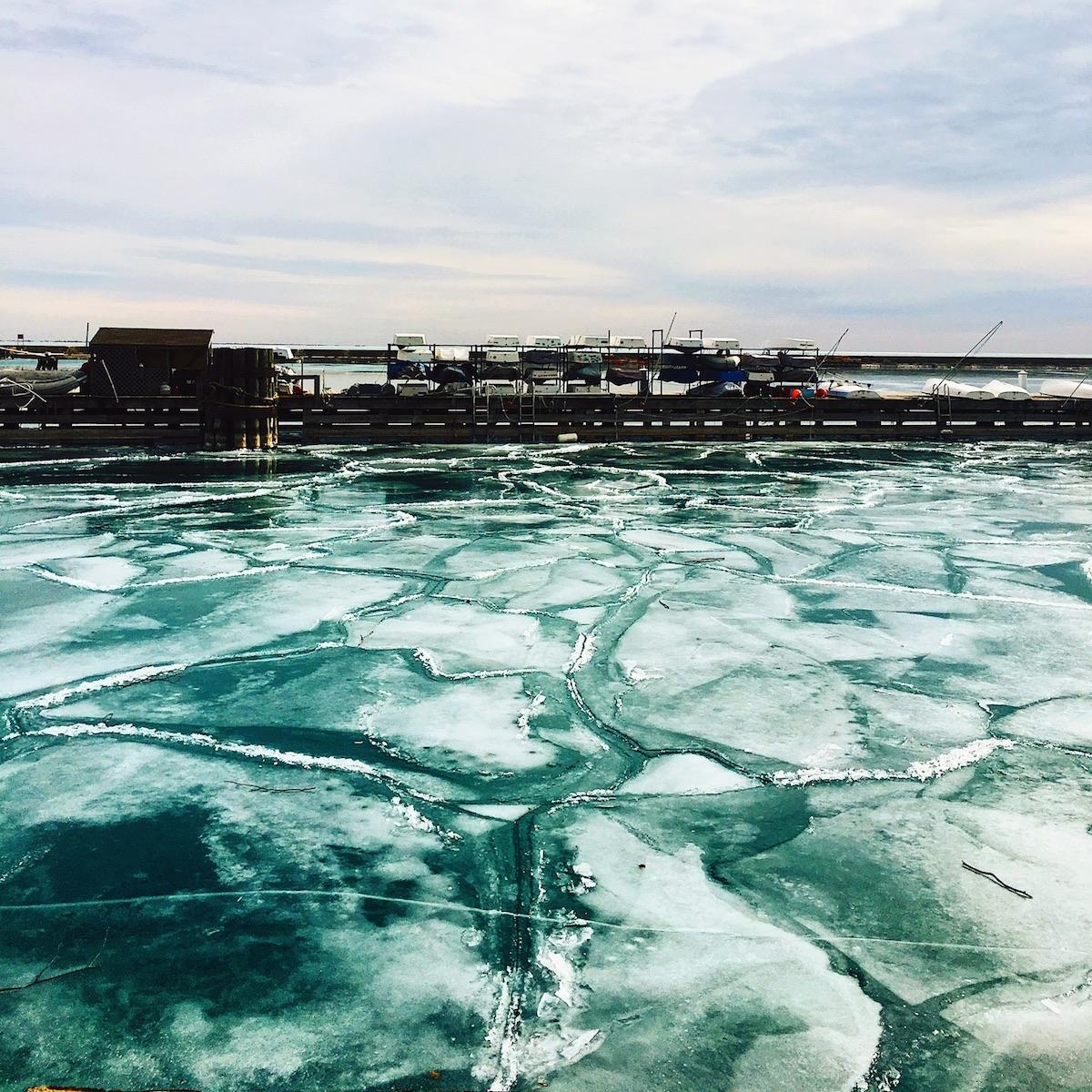 Chicago Frozen Lake