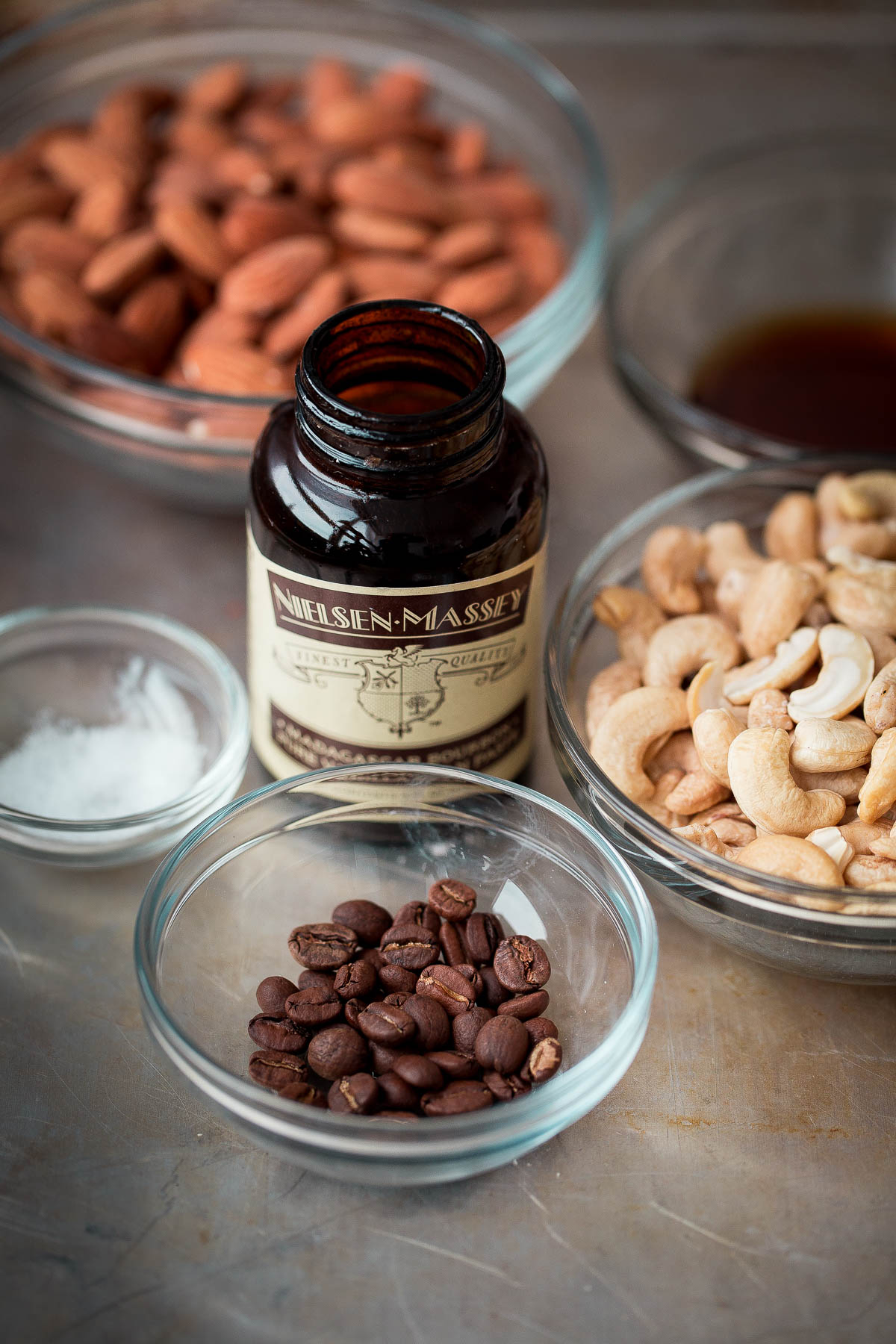 Espresso Almond Cashew Butter Ingredients