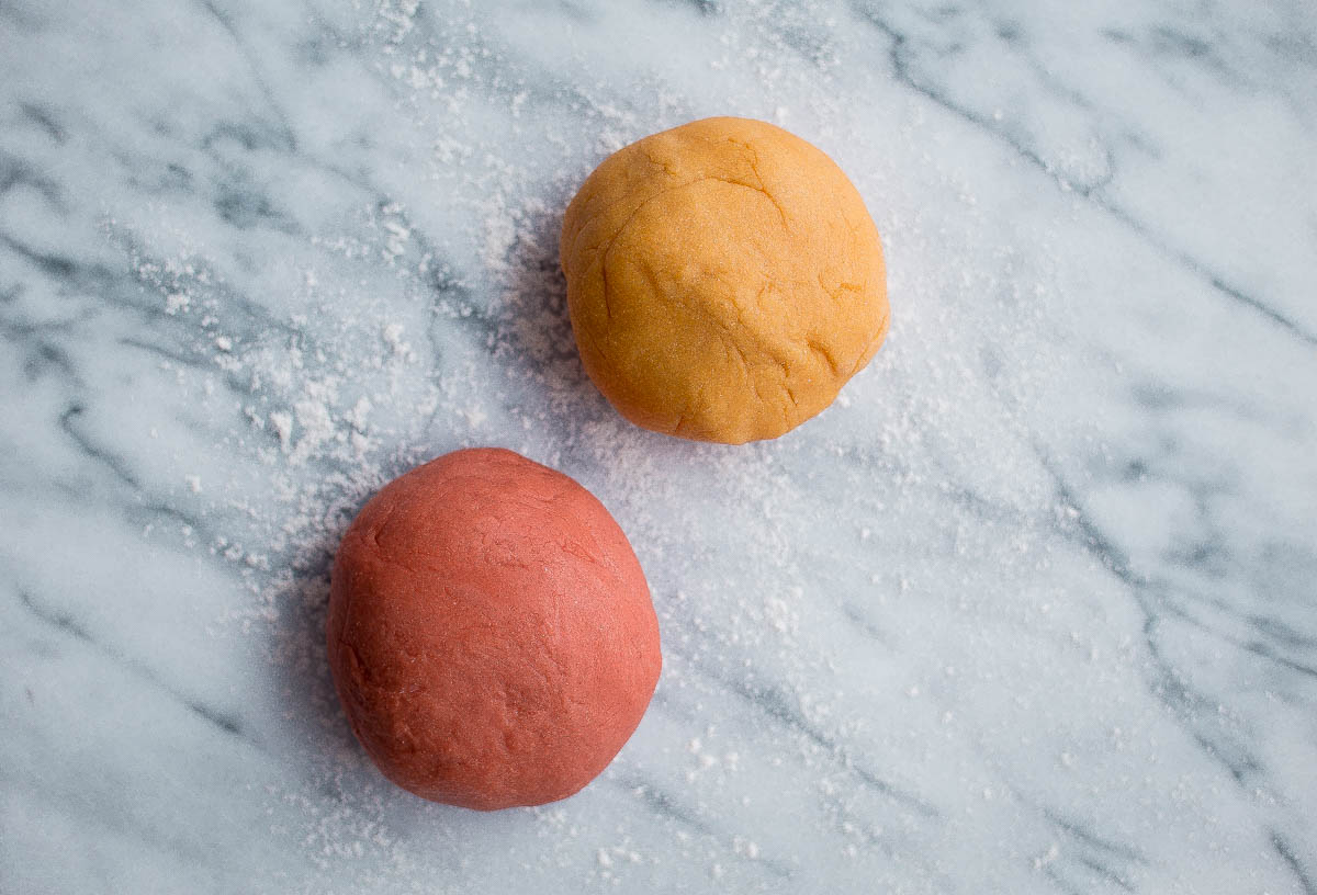 Homemade Pappardelle Pasta. A simple traditional egg pasta dough made with all-purpose flour, semolina, and eggs! Made traditionally or naturally colored (pink!) with beet puree.