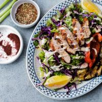 Mediterranean Chicken Salad with Sumac Dressing