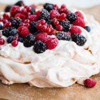 Berry Pavlova with Lemon Whipped Cream
