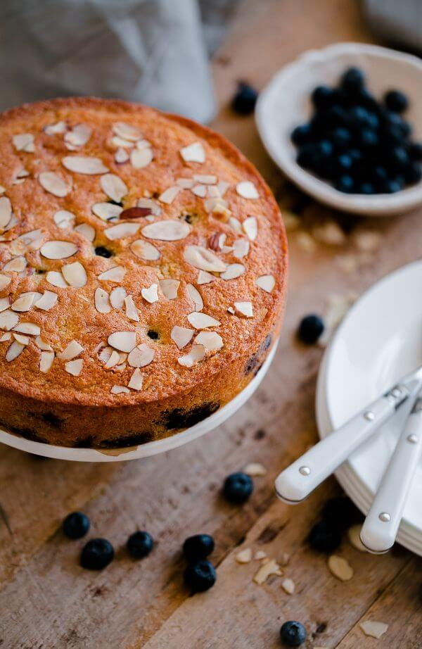 Blueberry Almond Tea Cake - 10 Mother's Day Recipe Ideas. Sweets and dessert recipes to spoil your mama!