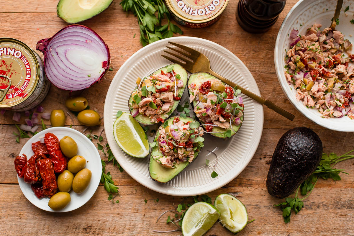 How to Make Tuna Avocado Boats