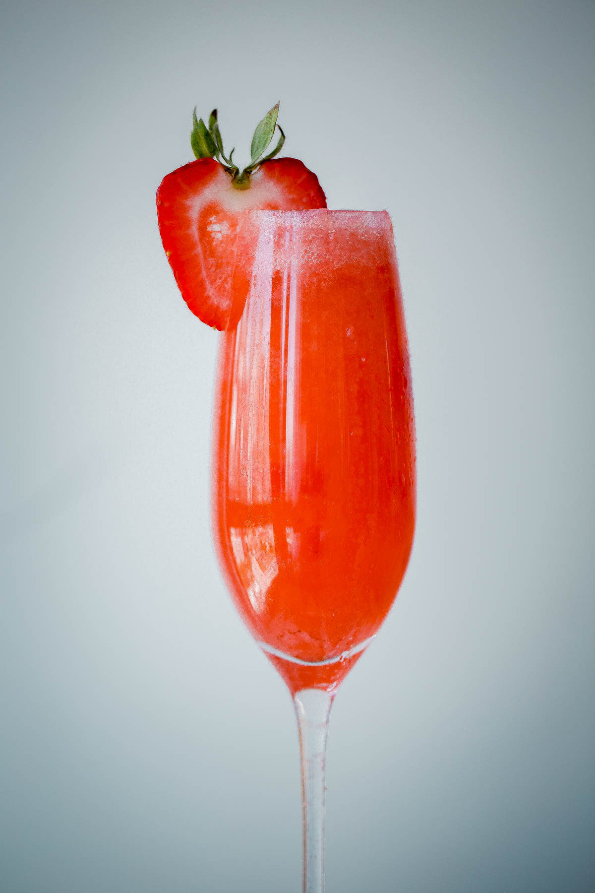 Strawberry elderflower sparkler a beautiful plate for Drinks with prosecco and vodka