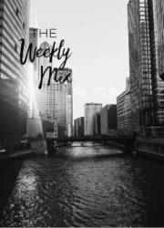 Chicago skyline black and white