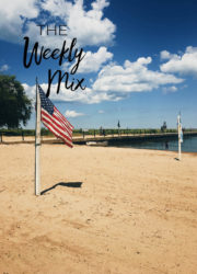 American Flag on Beach