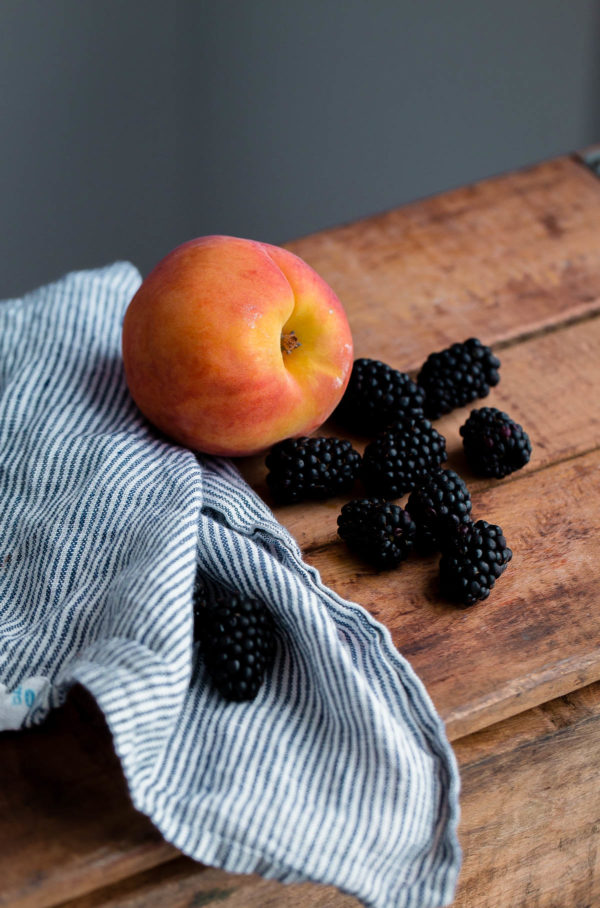 Summer Peaches and Blackberries