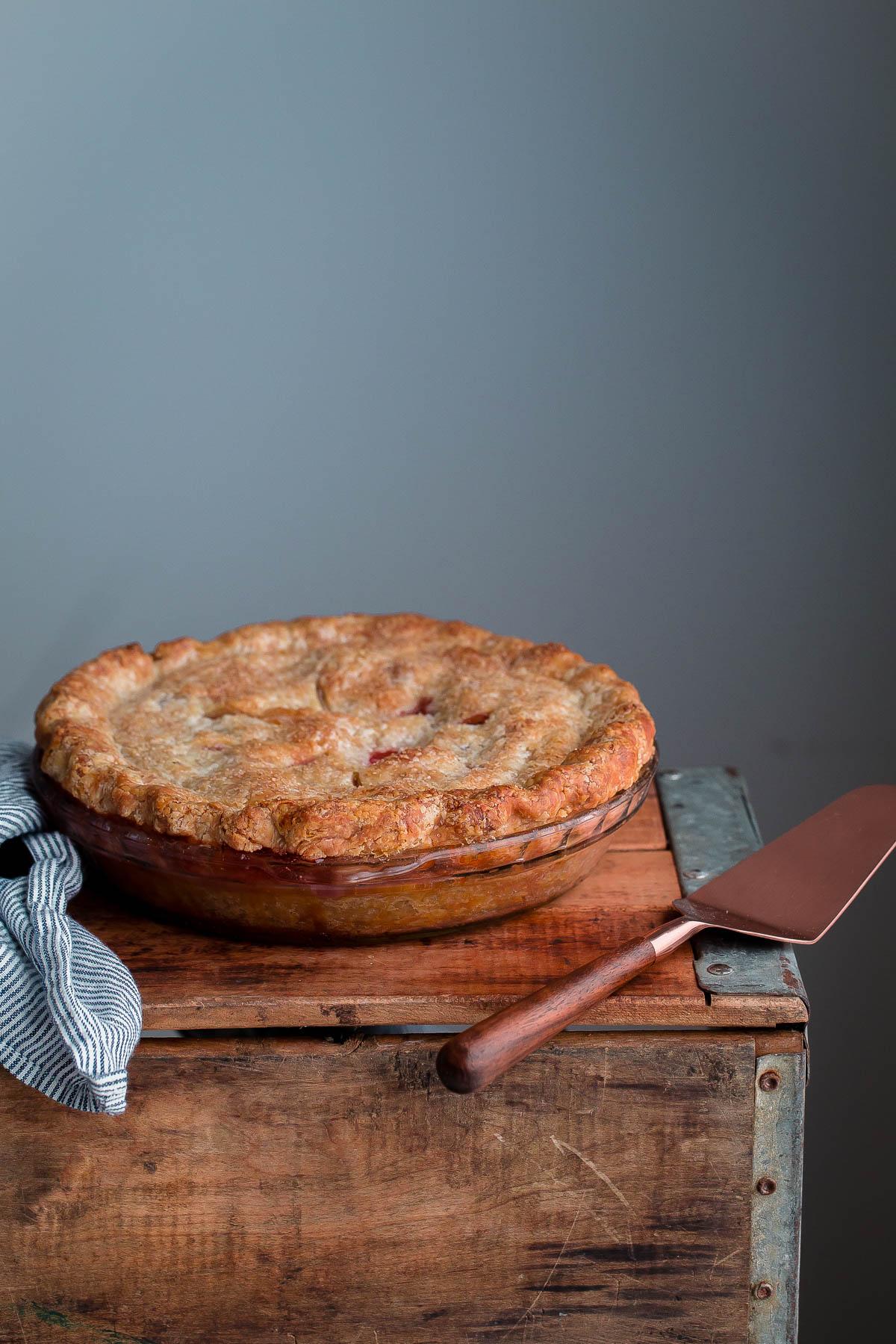 The BEST Blackberry Peach Pie!