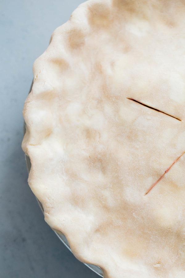 Crimped Pie Crust in Pan