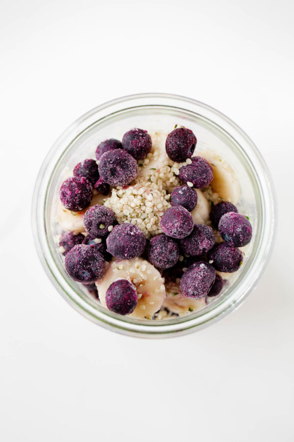 Make Ahead Blueberry Kefir Smoothie