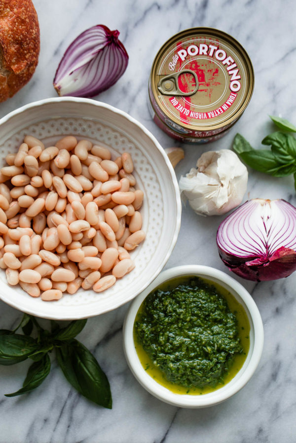 Mediterranean Tuna Sandwich Ingredients