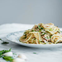 Tuna Pasta with Capers and Parsley