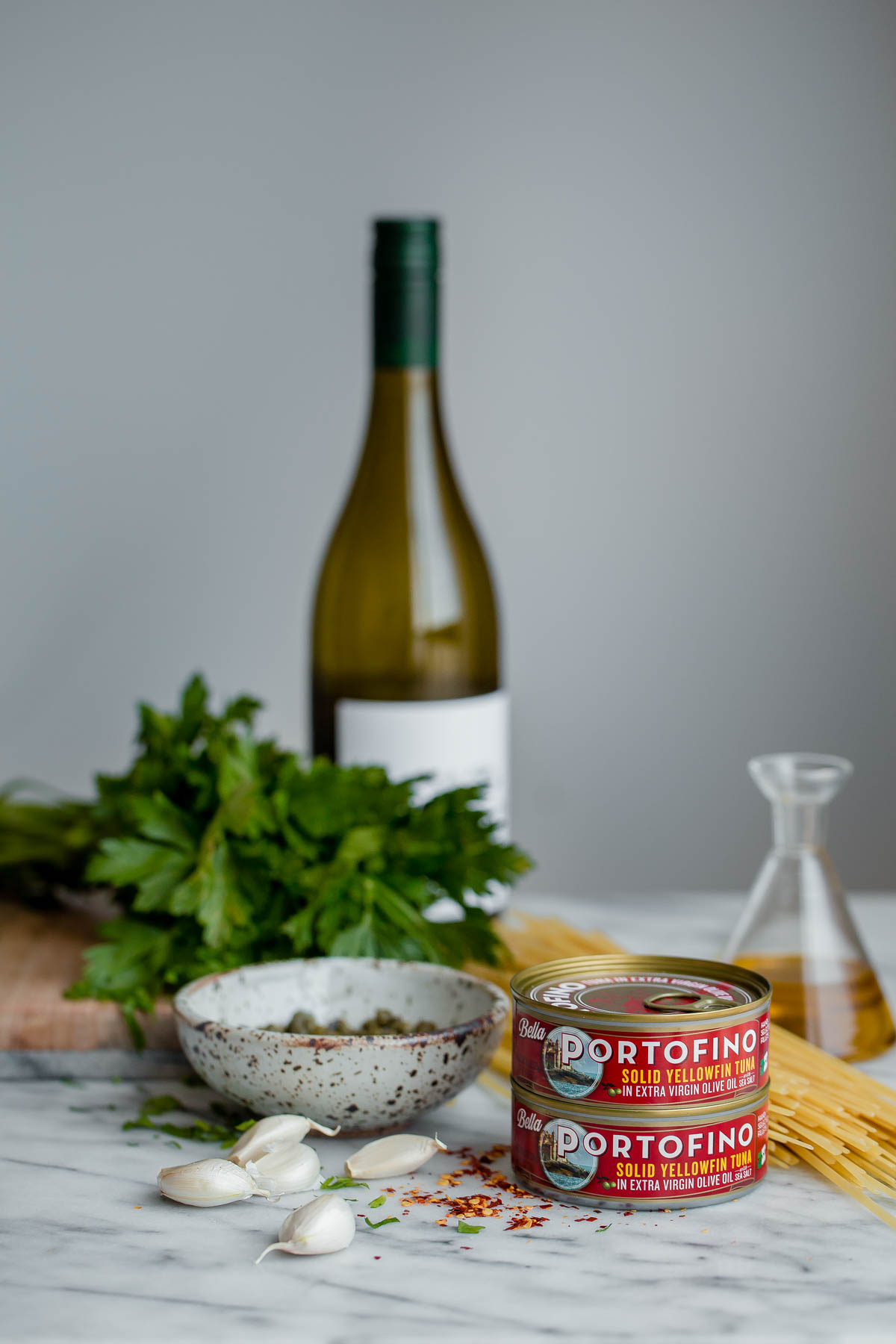 Tuna Fish Pasta Ingredients