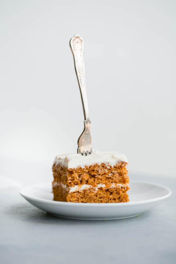 Pumpkin Sheet Cake with Spiced Cream Cheese Frosting. A rich, decadent fall cake!