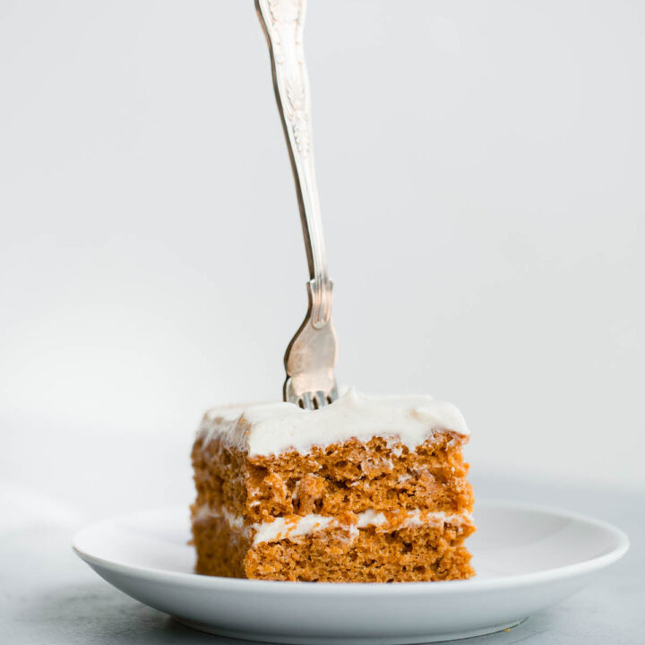 Pumpkin Sheet Cake with Spiced Cream Cheese Frosting