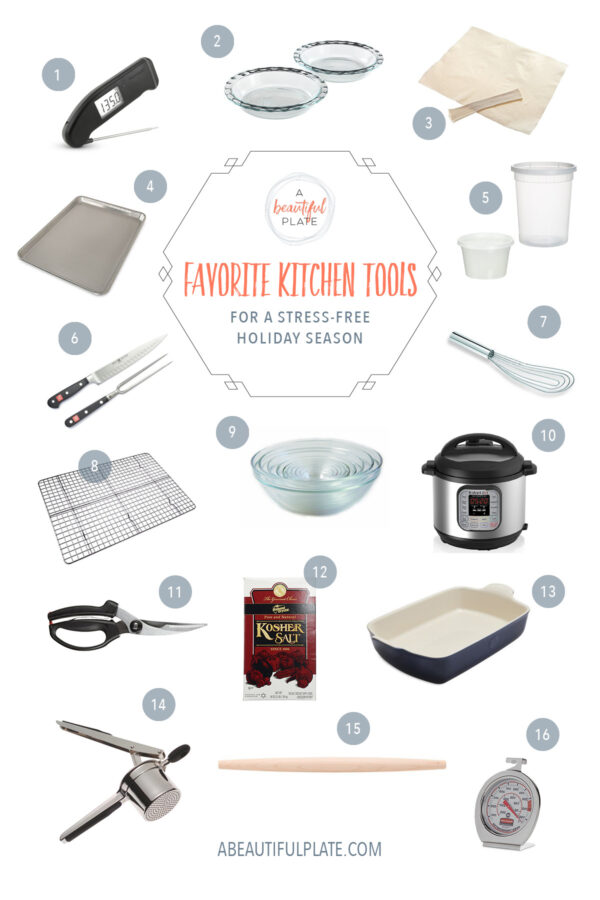 Favorite Cooking Tools for a Stress-Free Holiday Season - my go-to kitchen tools to ensure a successful and stress-free holiday season!