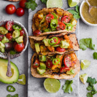Mumbai Shrimp Tacos with Avocado Salsa