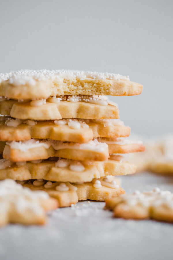 Almond Sugar Cookies With Simple Icing