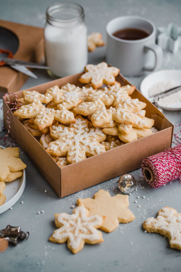 Almond Sugar Cookies With Simple Icing A Beautiful Plate
