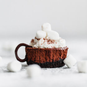 Mini Hot Chocolate Cheesecakes