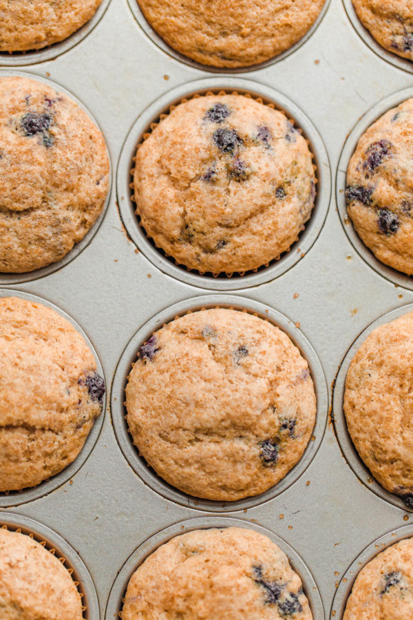 Easy Blueberry Muffins in a Pan