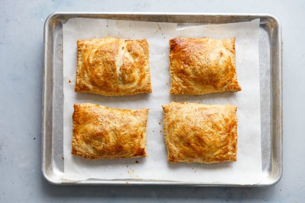 Potato Leek Cornish Pasties on a Sheet Pan