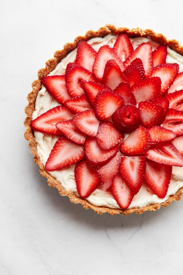 No Bake Strawberry Tart
