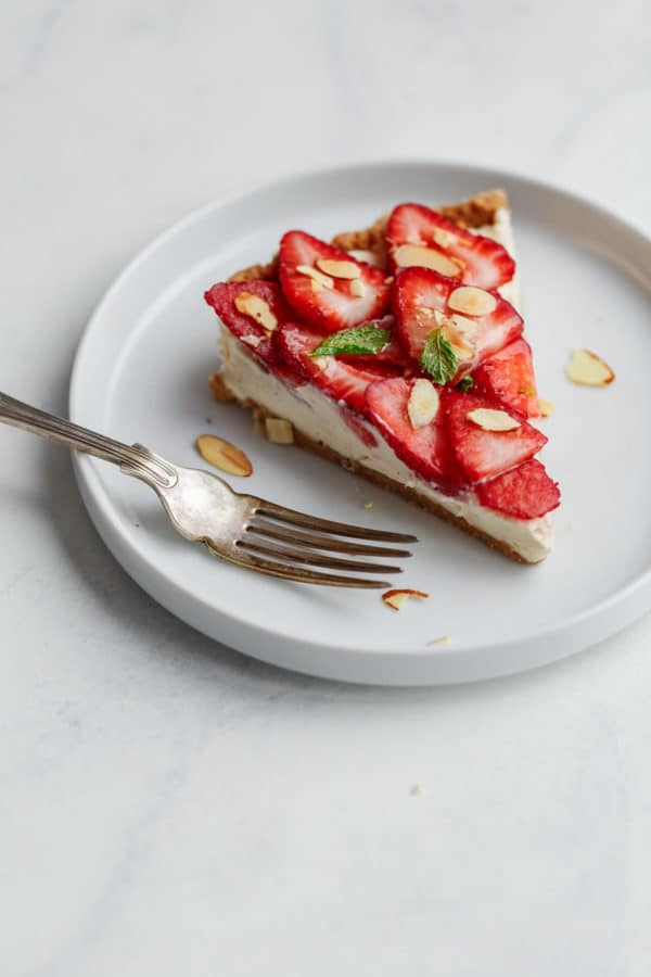 Slice of Strawberry Mascarpone Tart