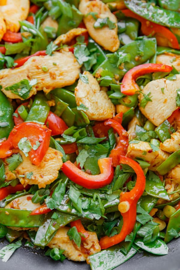 Easy Chicken Snow Pea Stir Fry