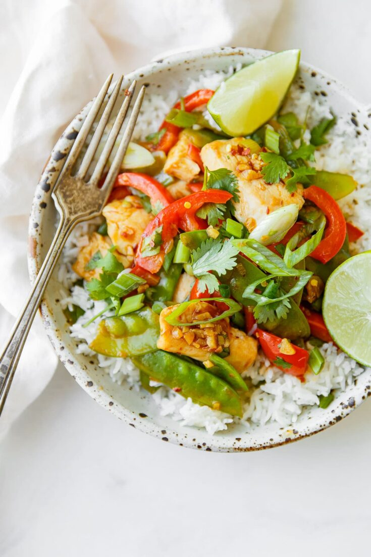 EASY CHICKEN SNOW PEA STIR FRY A BEAUTIFUL PLATE