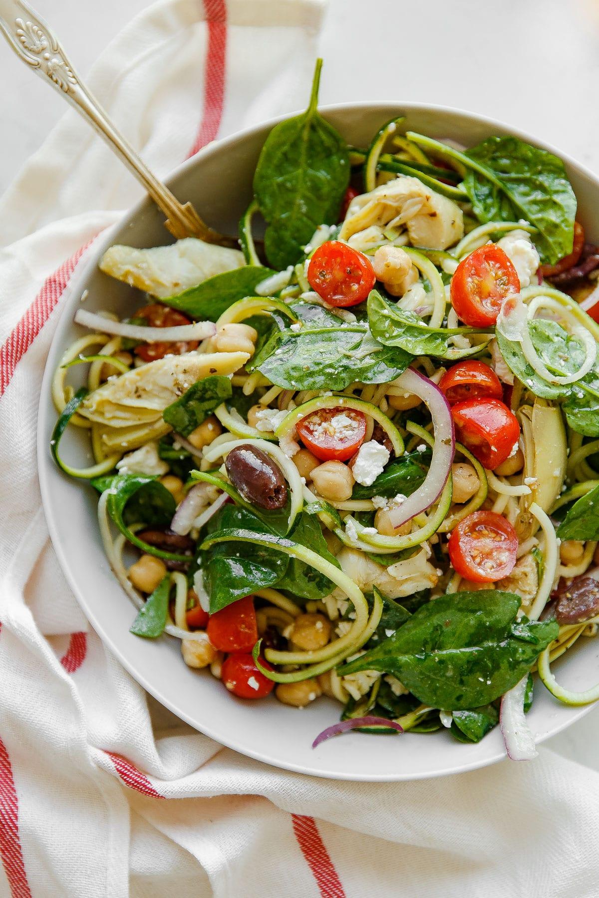 Mediterranean Zucchini Pasta Salad Gluten Free A