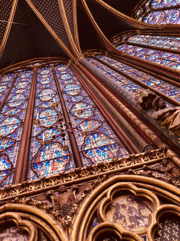Inside of Sainte Chappelle