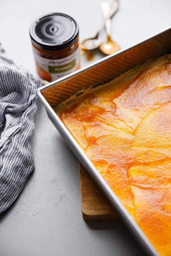 Pumpkin Butter Layer in Coffee Cake