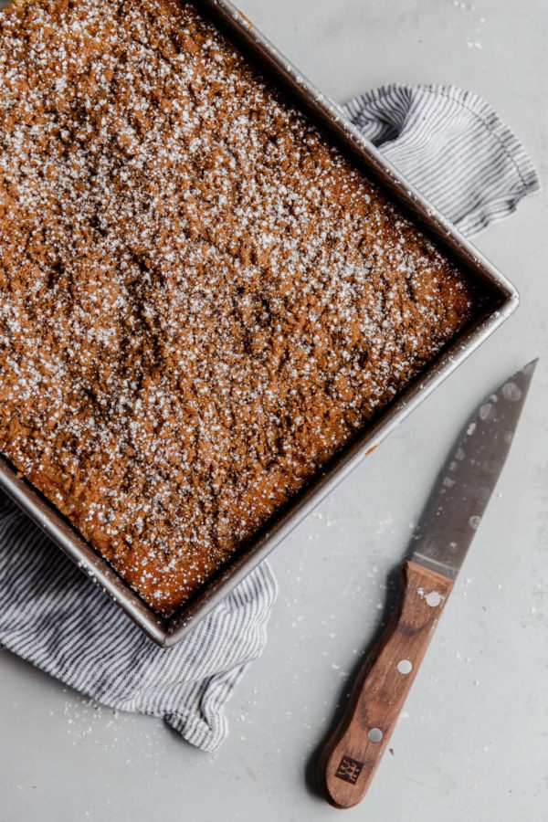 Whole Coffee Cake in Pan