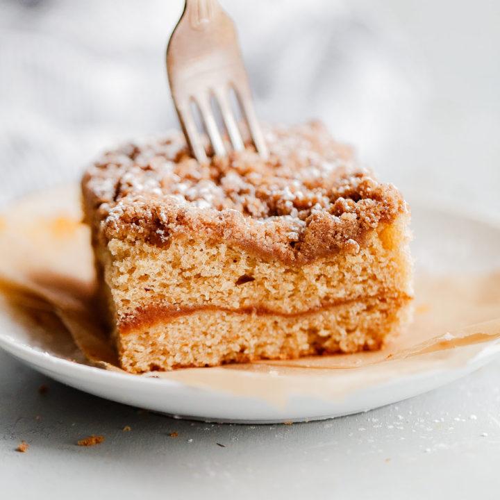 Spiced Coffee Cake with Pumpkin Butter Swirl