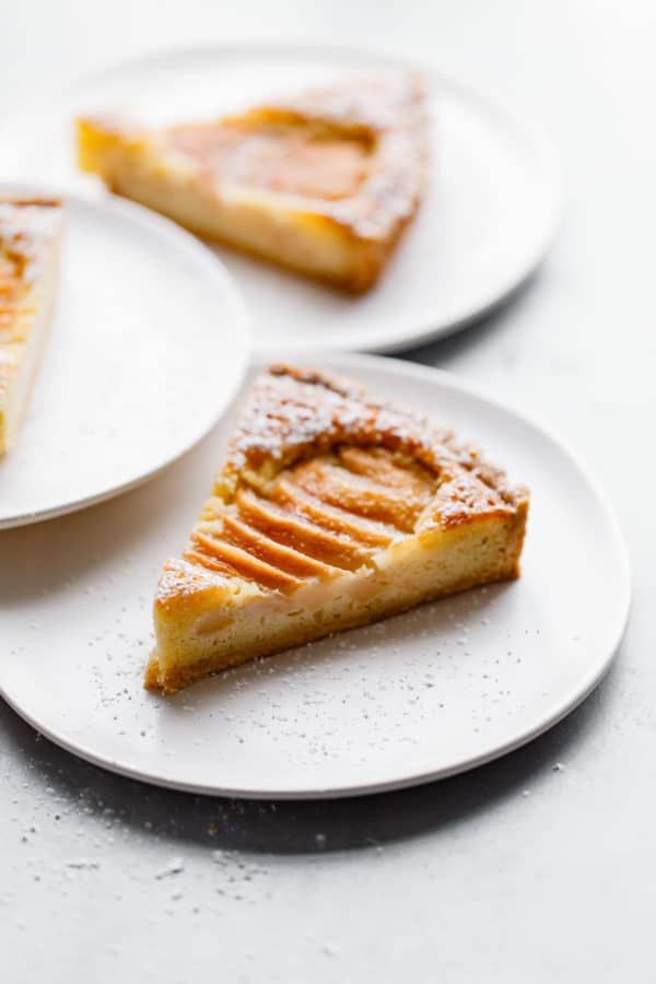 Slice of Pear Frangipane Tart