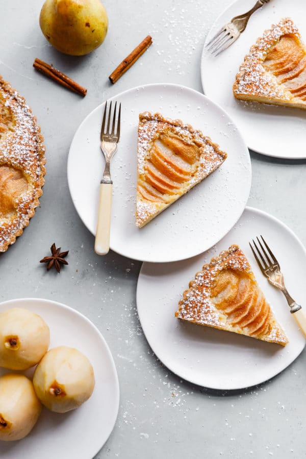 Pear Frangipane Tart Slices