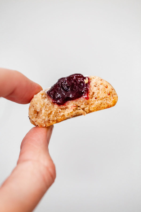 Hazelnut Thumbprint Cookies with Jam